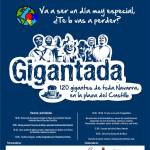 Gigantada con más de 120 gigantes en Pamplona por el Día Mundial del Autismo el próximo sábado 2 de abril