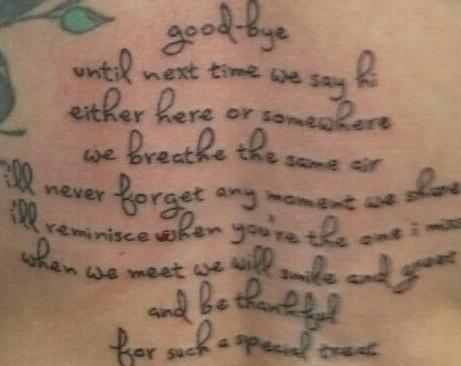 my tattoo on back
