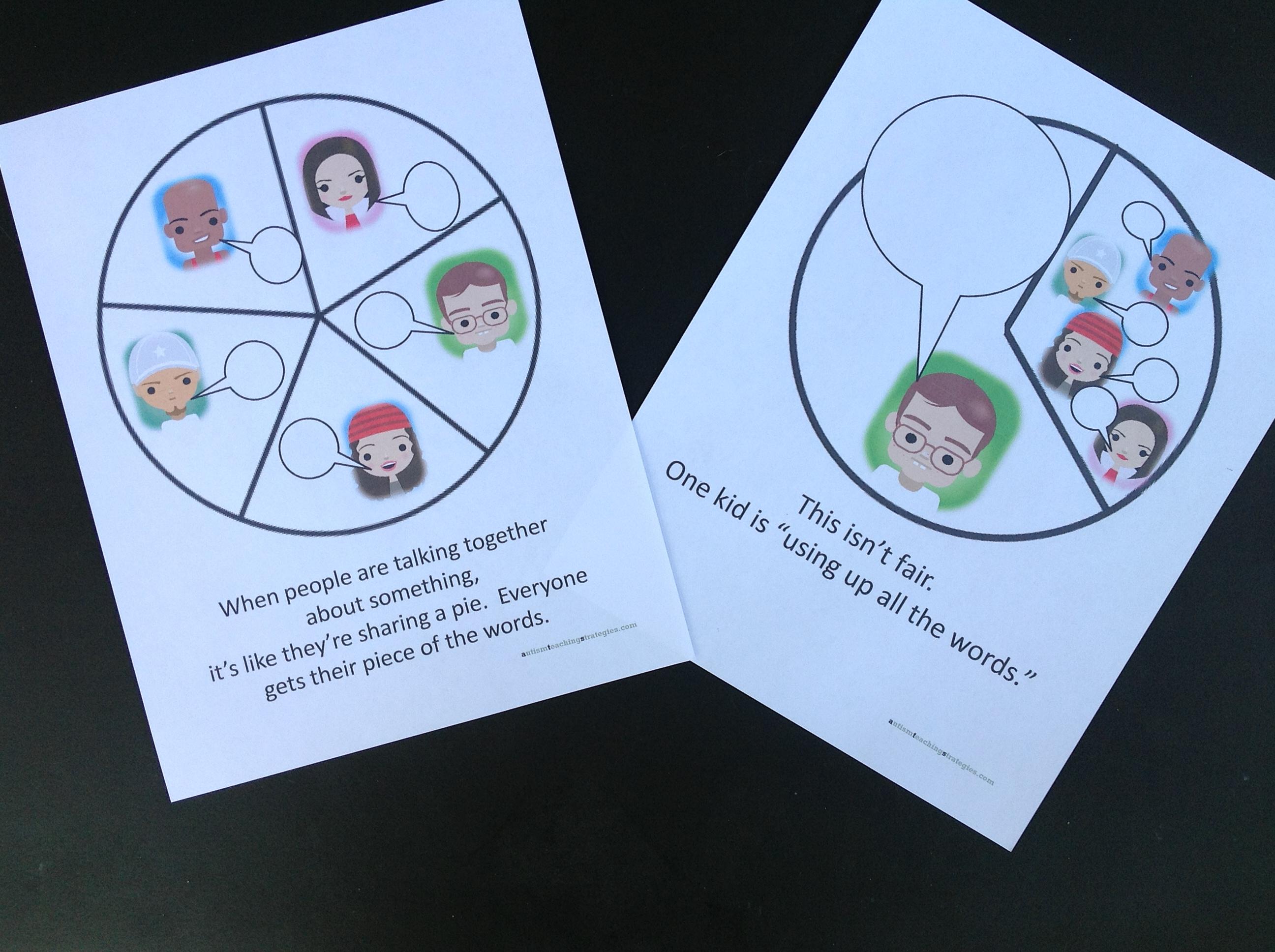 Pie Chart Visuals Great Social Skills Tool To Help Kids