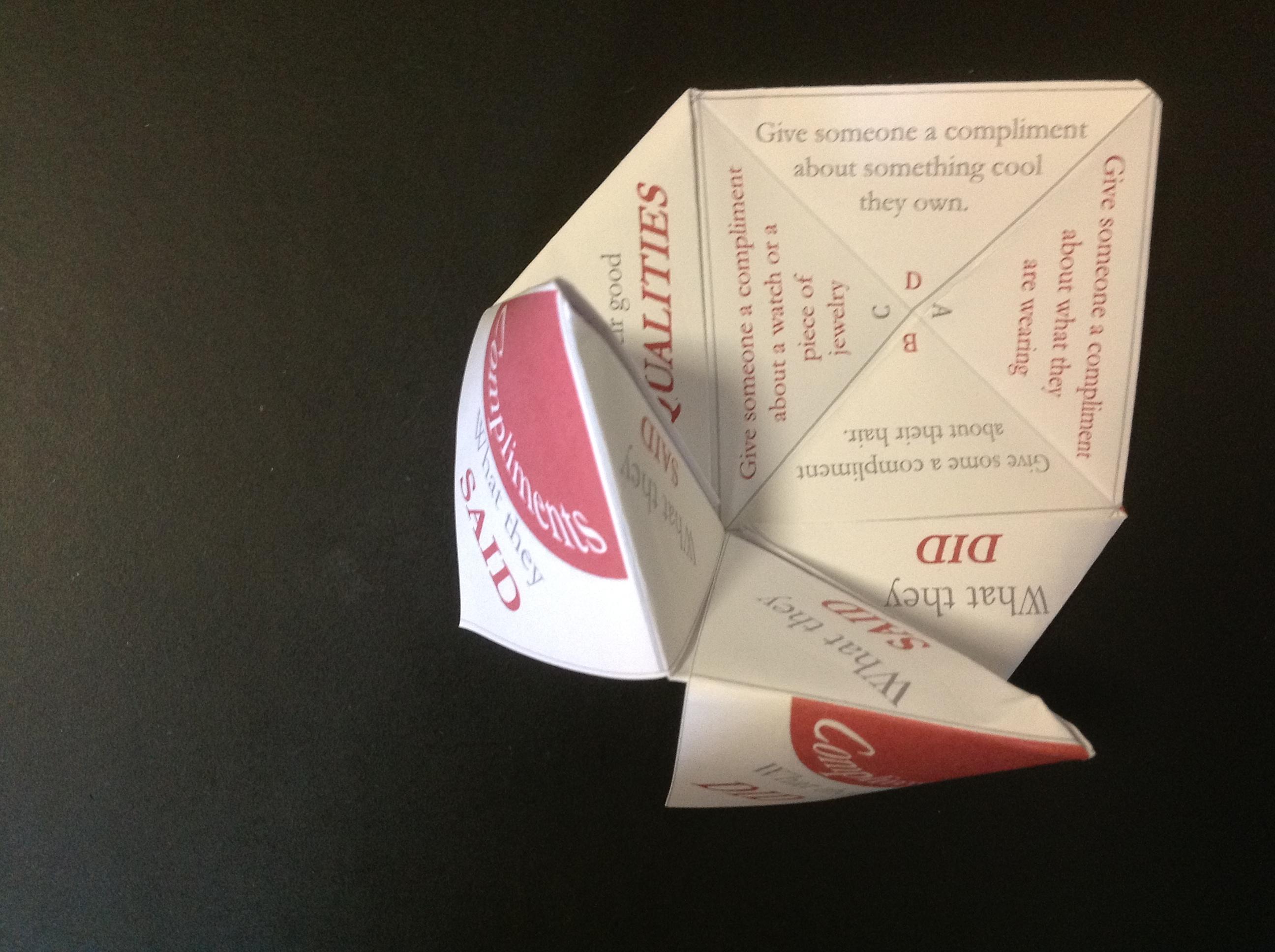 Paper Fortune Tellers Social Skills Games For Children