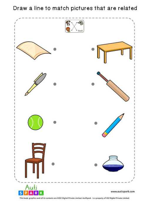 Free Picture Matching Worksheet - Match Associated Pictures-4