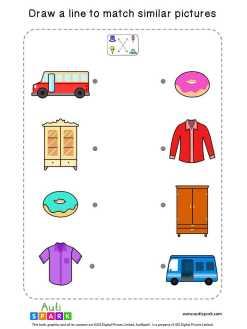 Matching Pictures Free Worksheet #10 – Match Similar Images