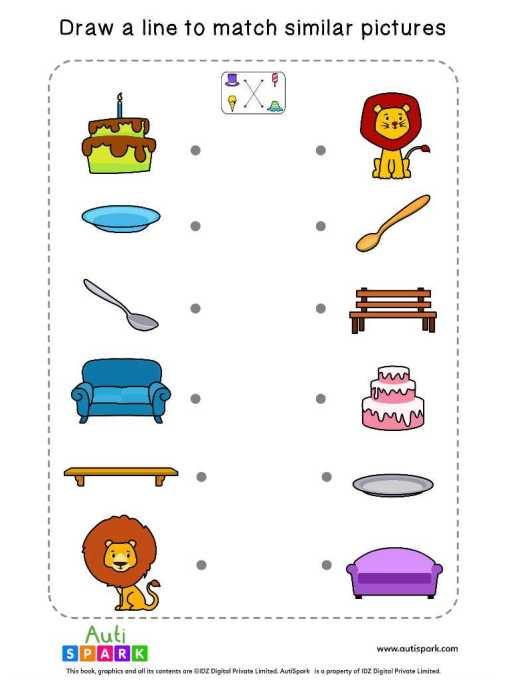 Matching Pictures Free Worksheet #02 – Match Similar Images