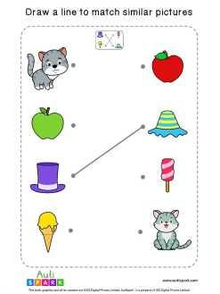 Matching Pictures Free Worksheet #08 – Match Similar Images