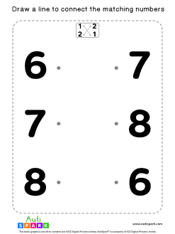 Match The Numbers Worksheet - Free Matching #03