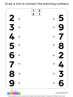 Match The Numbers Worksheet - Free Matching #09