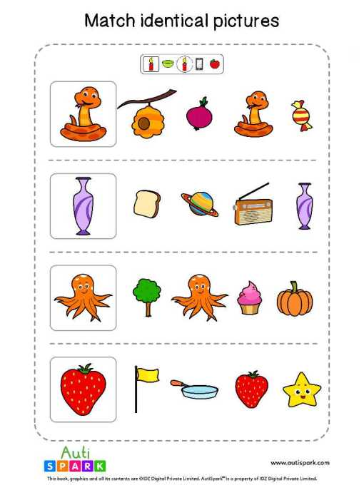 Matching Pictures Free Worksheet - Circle The Same Pictures #15