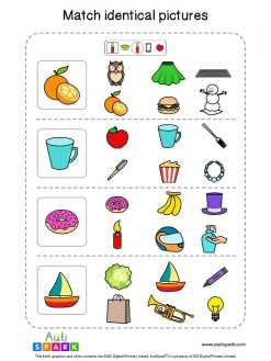 Matching Pictures Free Worksheet - Circle The Same Pictures #17