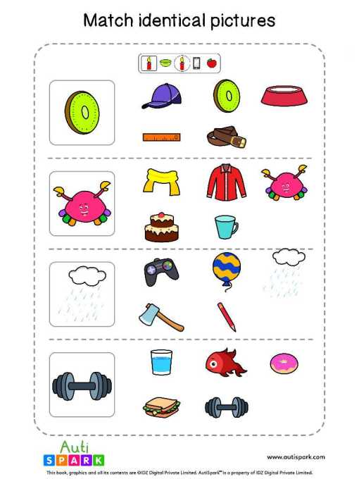 Matching Pictures Free Worksheet - Circle The Same Pictures #26