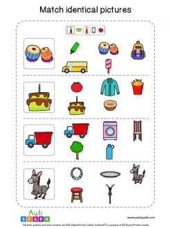 Matching Pictures Free Worksheet - Circle The Same Pictures #28