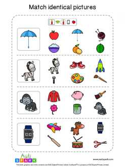 Matching Pictures Free Worksheet - Circle The Same Pictures #3
