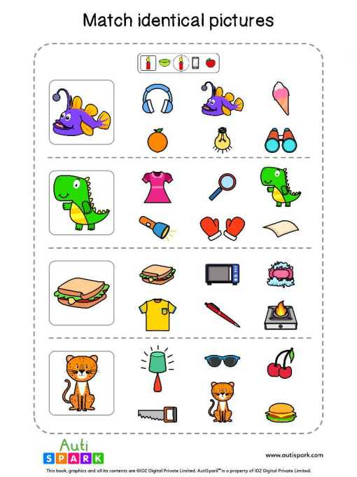Matching Pictures Free Worksheet - Circle The Same Pictures #5