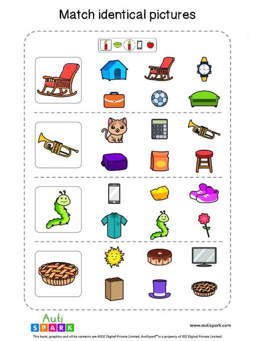Matching Pictures Free Worksheet - Circle The Same Pictures #6