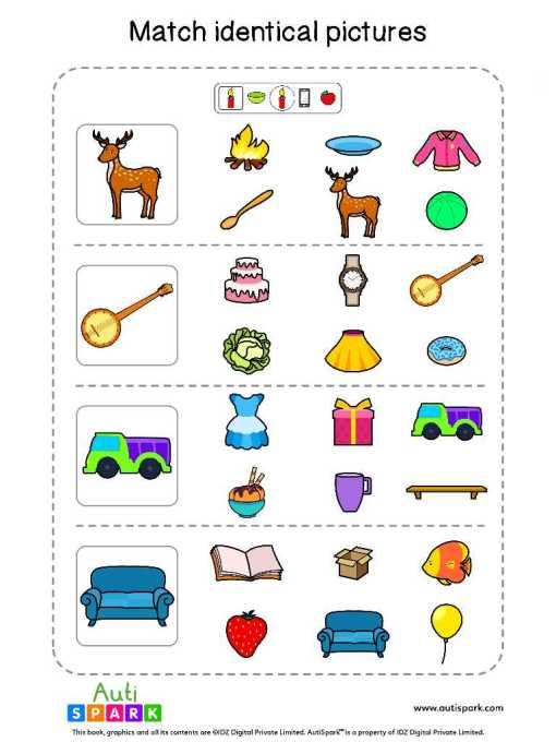 Matching Pictures Free Worksheet - Circle The Same Pictures #7