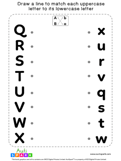 Match Uppercase To Lowercase Letters #10 - Best Matching Worksheet