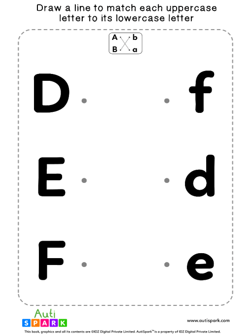 Match Uppercase To Lowercase Letters #02 - Matching Worksheet