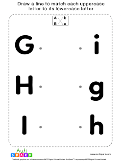 Match Uppercase To Lowercase Letters #03 - Matching Worksheet