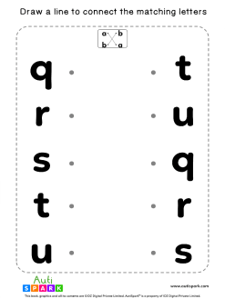 Match Lowercase Letters #06 - Free Matching Worksheet