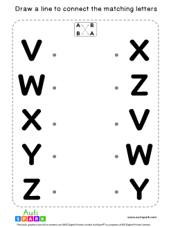 Match Uppercase Letters #07 - Free Matching Worksheet