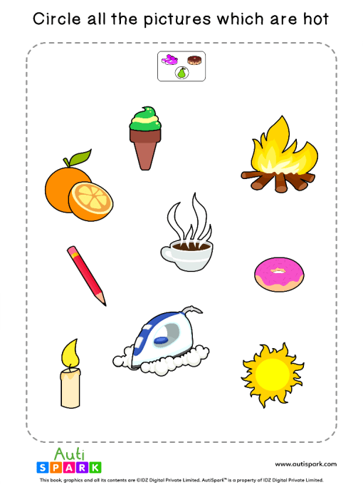 Circle The Hot Objects Worksheet 5