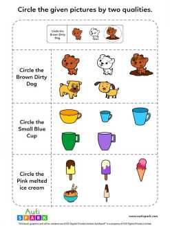 Identify Pictures By Two Qualities - Fun Worksheet :