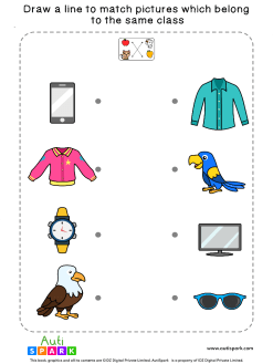 Match Pictures By Class #2 – Fun Matching Worksheet