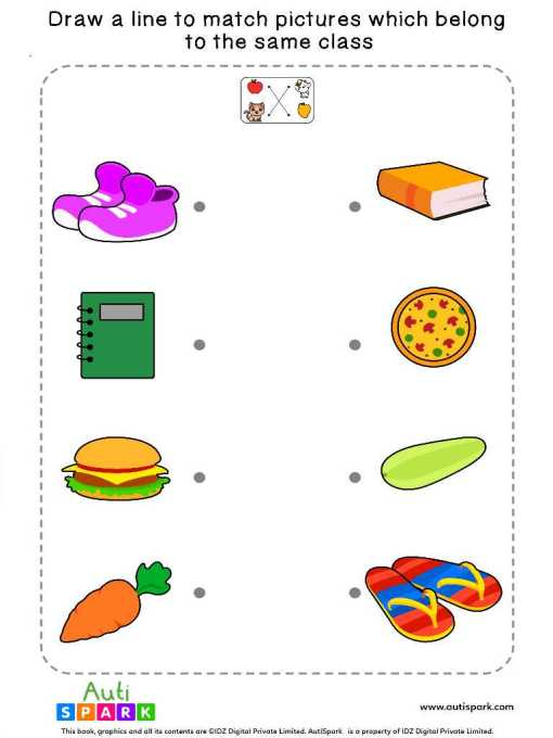 Match Pictures By Class #3 – Fun Matching Worksheet