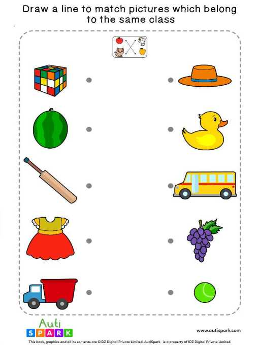 Match Pictures By Class #5 – Fun Matching Worksheet