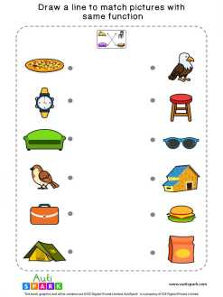 Match Pictures By Function #10 – Free Matching Worksheet
