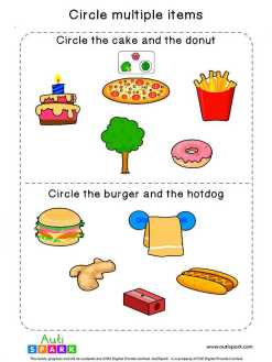 Circle & Identify Objects #04 – Best Sorting Worksheet