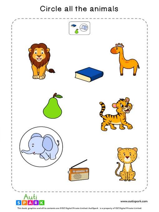 Sort By Animals Worksheet 1