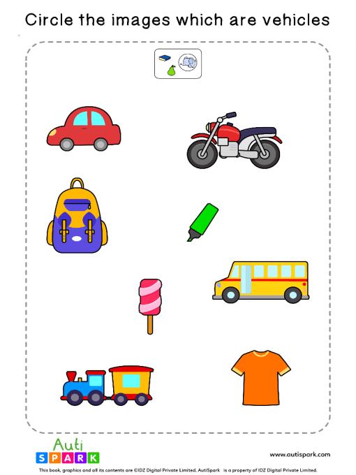 Sort The Vehicles Worksheet 10