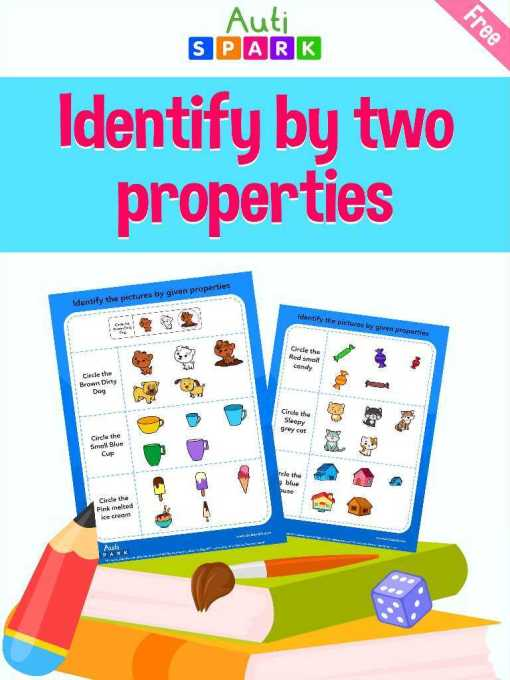 Matching The Pictures By 2 Properties – Free Matching Workbook