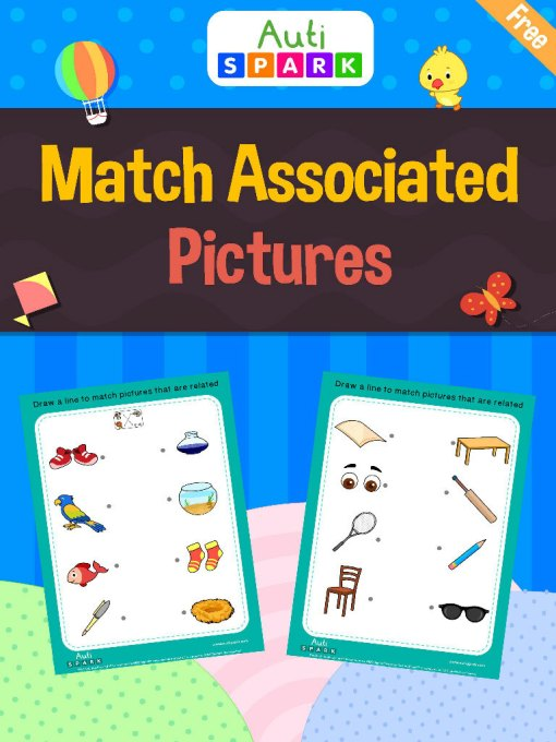 Matching Pictures - Match Associated Pictures Workbook : 1