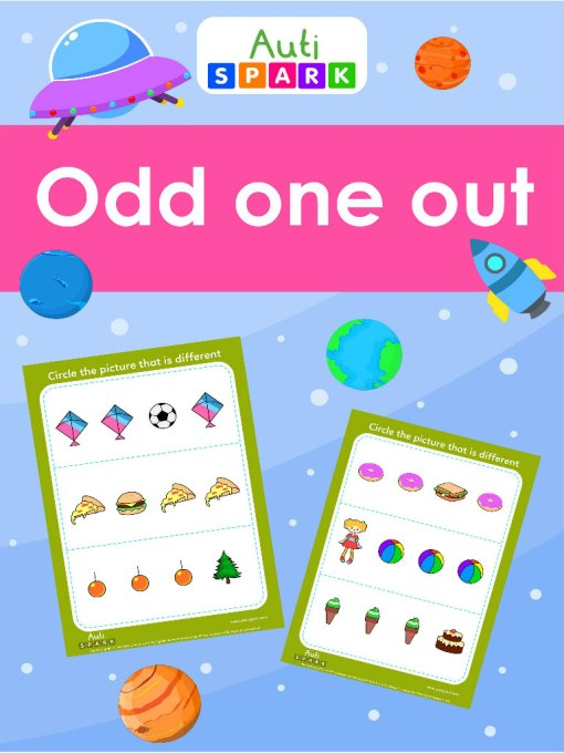 find the different image - odd one out worksheets