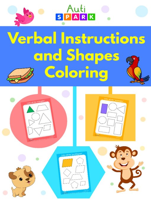 verbal instructions and shapes coloring jpeg