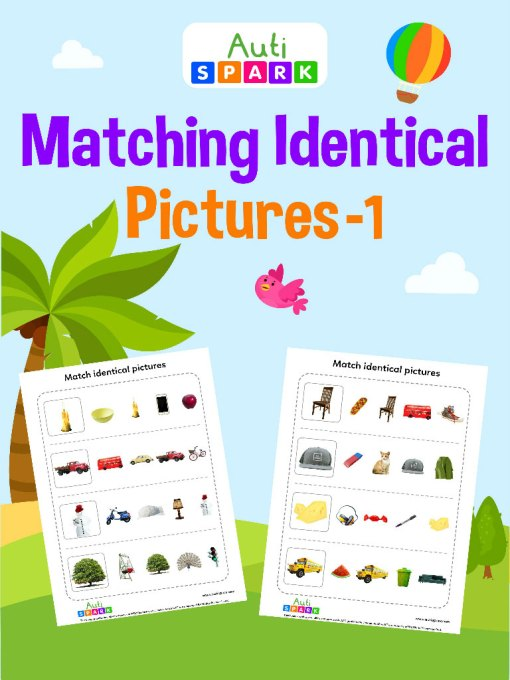 Circle The Same Pictures – Matching Workbook