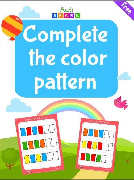 color the pattern