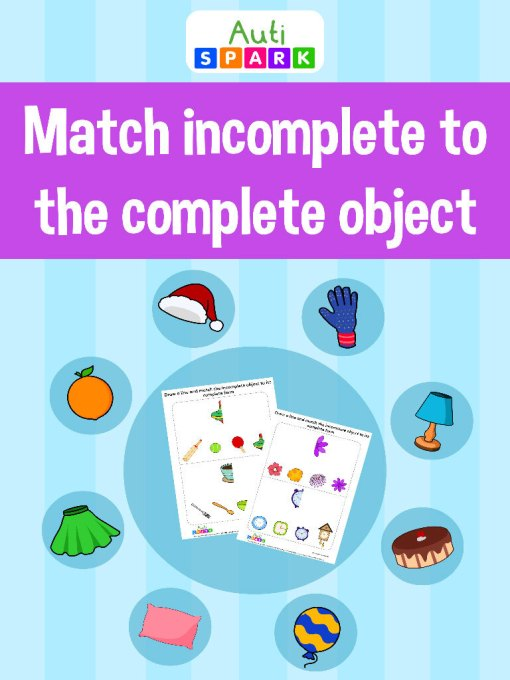 Match The Incomplete Object Matching Workbook