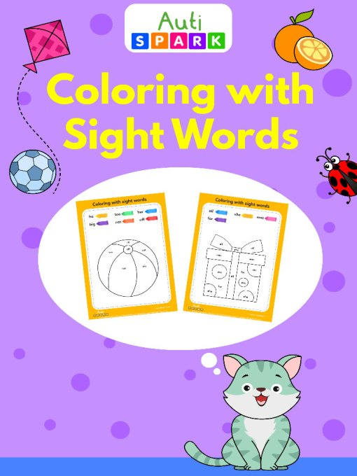 30 Coloring by sight words