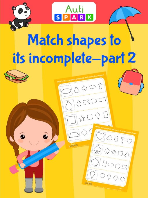 64 Match shape to its incomplete shape part 2