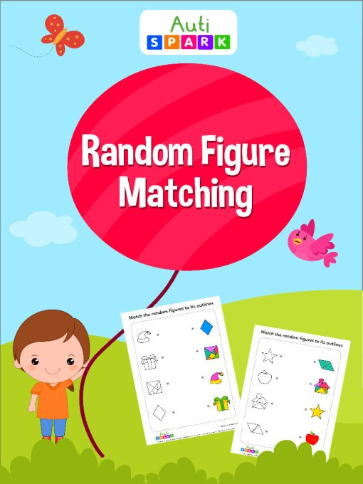 Match The Random Figures To Its Outline–Matching Workbook