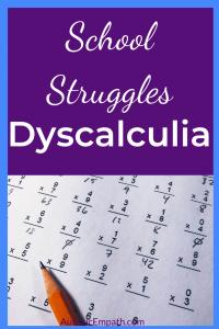 School Struggles Dyscalculia