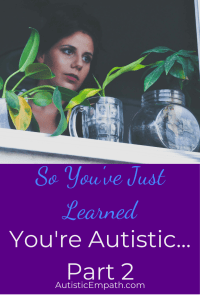 So You've Just Learned You're Autistic Part Two
