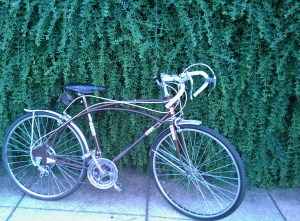 My bike, a vintage deathtrap with lots of chrome