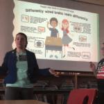 Jess and Cori present a teacher training