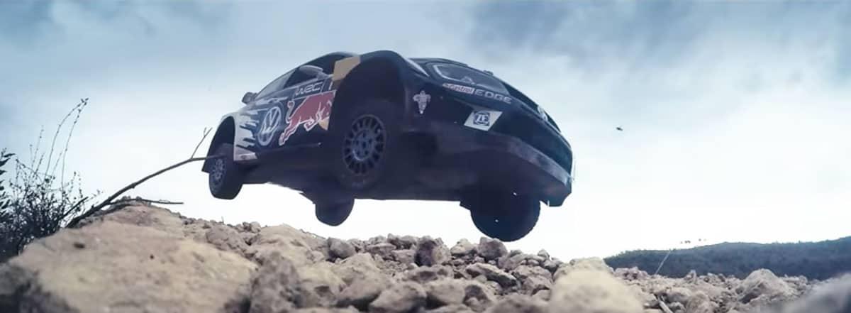 VW WRC Rallye Sprung mit High four