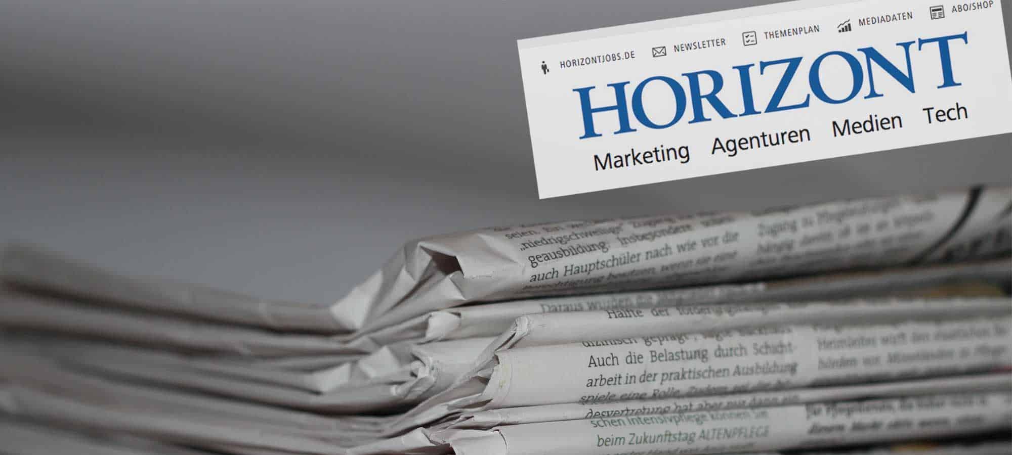 """Horizont über Influencer: """"Starke Persönlichkeit"""" (Print)"""