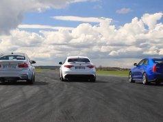 Alfa Romeo Giulia Quadrifoglio, BMW M3, Cadillac ATS-V - video