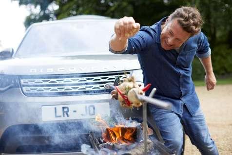 Jamie Oliver Discovery - Jamie with rotisserie